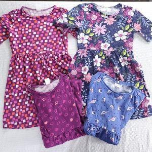 Gymboree (4) Girls Short Sleeve Modest Dresses 7/8